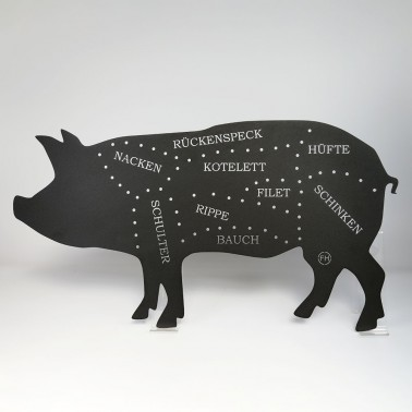 Schwein schwarz matt