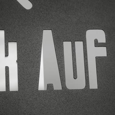 """Schild """"Glück Auf"""""""