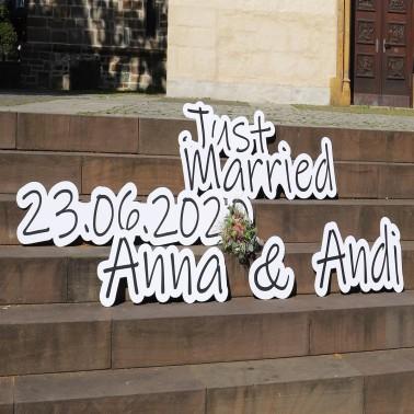 Hochzeitsbanner personalisiert