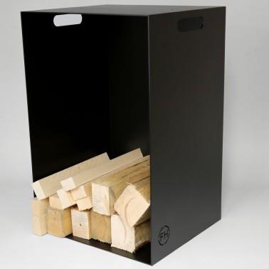 Brennholzlager Metall