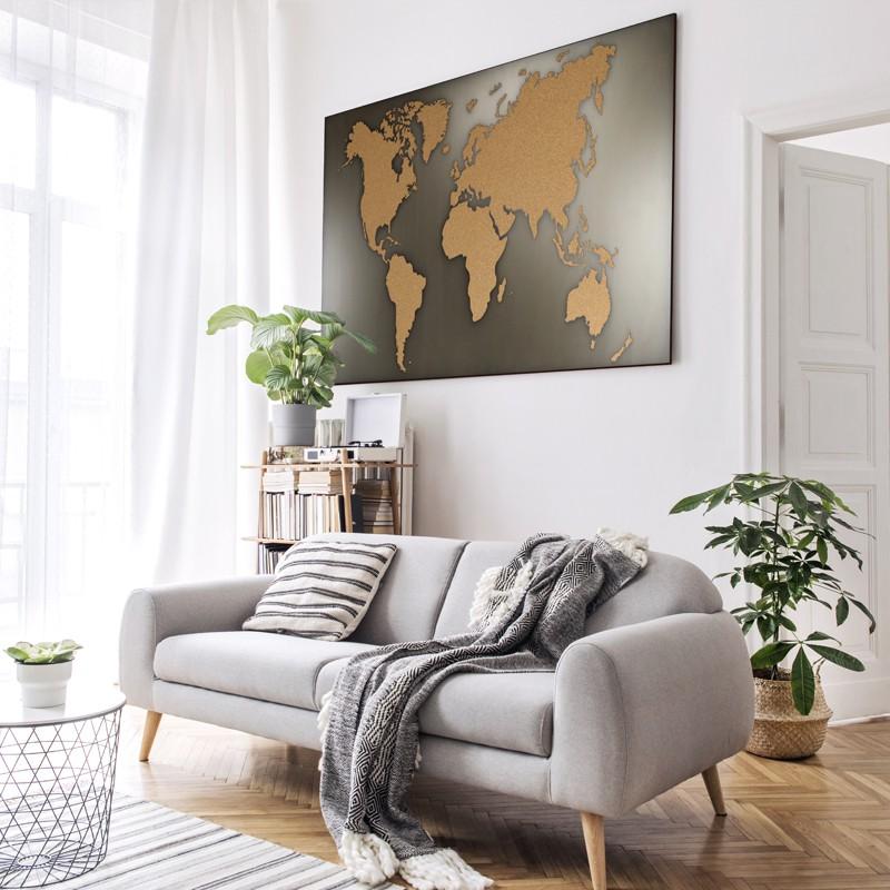 Weltkarte Kork