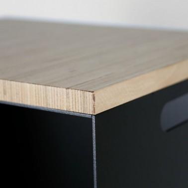 Brennholzlager mit optionaler Sitzplatte